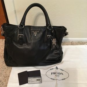 Prada Black Handbag - Pre Loved